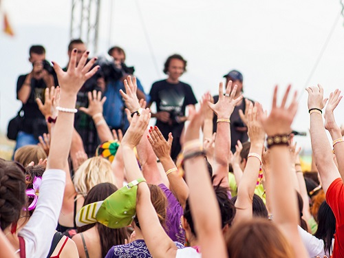 hire people at a concert
