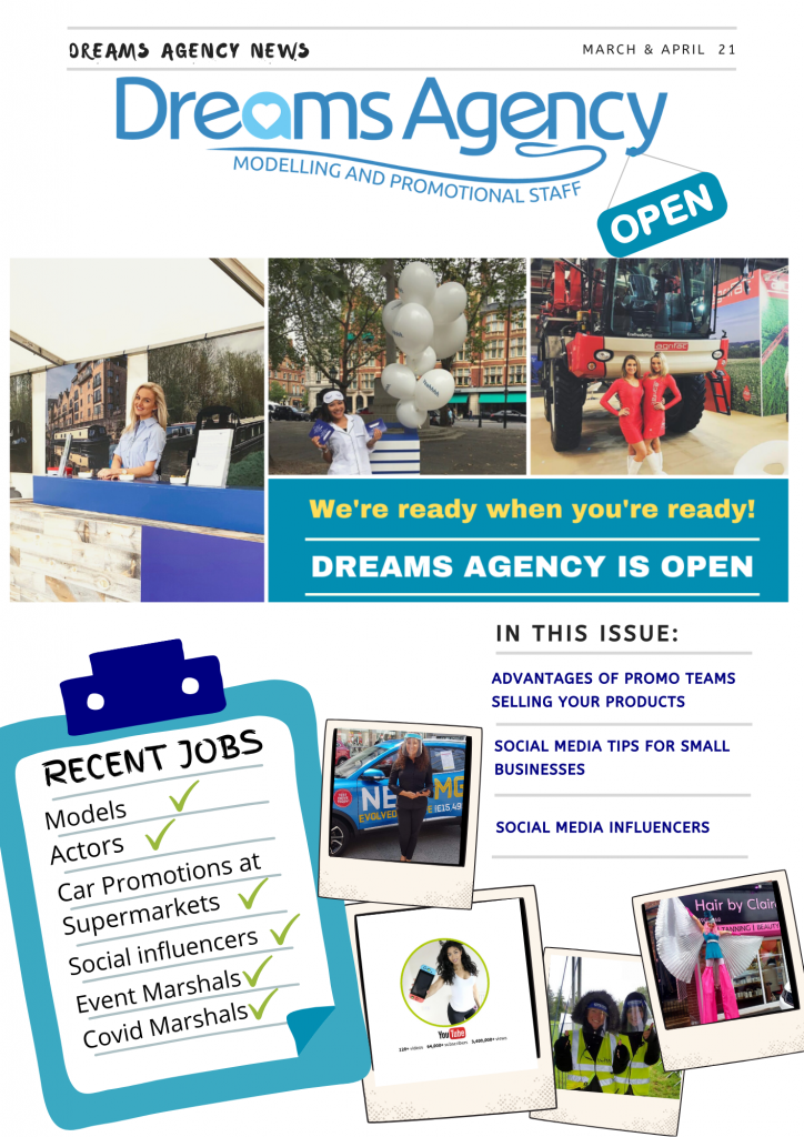 Dreams March April Newsletter