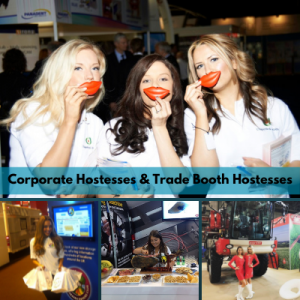 corporate hostesses and trade booth models